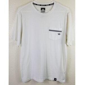 Adidas White Ventilated Mens Shirt Sz M